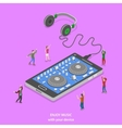 Enjoy music isometric flat concept vector image