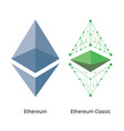 ethereum logo set vector image