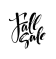 Fall Modern calligraph card Hand drawn lettering vector image vector image