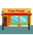 Fast food shop store front flat style vector image