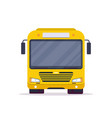 front view of city bus vector image vector image