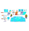 futuristic classroom stuff set modern supplies vector image vector image