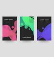 gradient liquid waves three kinds of color dark vector image