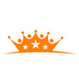 great event crown star vector image