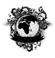 Grunge earth design vector image vector image