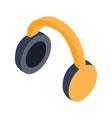 Headphones isometric 3d icon vector image vector image