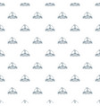 home cactus pattern seamless vector image vector image