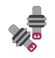 icon in flat design athletic weights on legs vector image vector image
