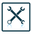 Icon of crossed wrench vector image vector image