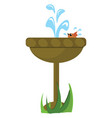 image bird bathing in fountain or color vector image vector image