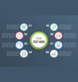 infographic template with eight steps vector image vector image