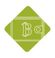 label bitcoin symbon in the wallet to save money vector image vector image