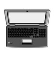 laptop computer with blank screen topview ico vector image vector image