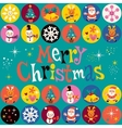 Merry Christmas retro style vector image vector image