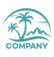modern island logo vector image