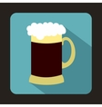 Mug of dark beer icon flat style vector image