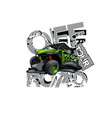 off-road atv buggy logo off road tour vector image vector image