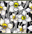 otanical seamless pattern with hand drawn flowers vector image vector image