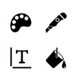 painter accessories simple related icons vector image vector image
