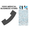 Phone Receiver Icon with 1000 Medical Business vector image vector image