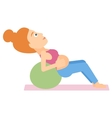 Pregnant woman on gymnastic ball vector image