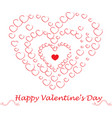 red drawing valentine vector image