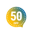 sale banner label isolated on white 50 percent vector image vector image