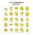 security icon set yellow futuro latest design vector image