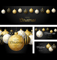 set luxury christmas and new year square vector image vector image