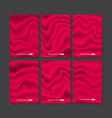 set of red silk texture vector image vector image