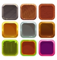 Set of square app icons vector image vector image