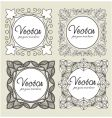 set vintage labels vector image vector image