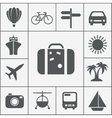 silhouette travel icon set vector image vector image