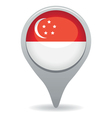 singapore flag pointer vector image vector image