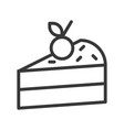 slice of cake sweets and dessert outline icon vector image vector image
