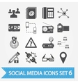 Social media icons set 6 vector image
