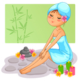 spa girl vector image vector image
