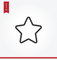 star icon in modern style for web site and mobile vector image