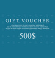 style collection gift voucher background vector image vector image