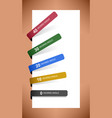 tag label sticker paper a set of tag label vector image