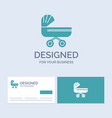 trolly baby kids push stroller business logo vector image