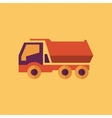 Truck Transportation Flat Icon vector image