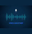 voice assistant color sound recognition wave and vector image vector image