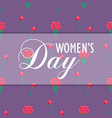womens day wrapping paper design with red flowers vector image