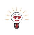 light bulb symbol of heart symbol of vector image