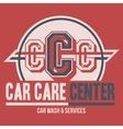 Car Care Center label t-shirt vector image