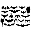 Set of different bats vector image