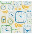 Vintage Clocks Pattern vector image