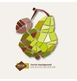 Abstract geometric yellow pear Elegant vector image vector image