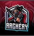 archery esport mascot logo design vector image vector image